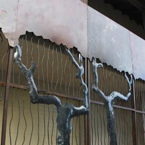Mur de végétation forgé